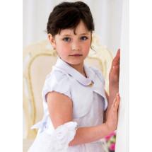 Болеро белого цвета с коротким рукавом Клерис