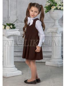 """Сарафан коричневого цвета с мягкими складками """"Джорджия"""""""