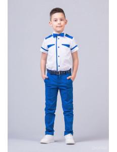 """Костюм для мальчиков цвета электрик из трех предметов """"Smart Color"""""""