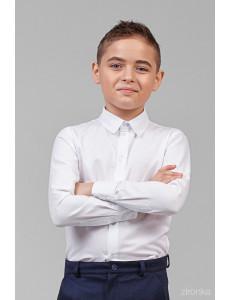 """Сорочка для мальчиков белого цвета """"Классик"""""""
